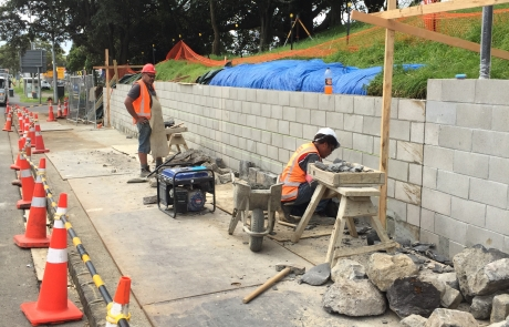 Mt Richmond Retaining Wall